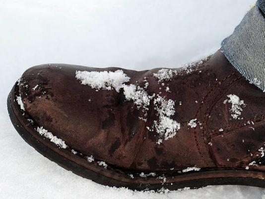 Buty zimowe męskie - skórzane buty ocieplane, buty trekkingowe
