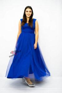 Sukienka XXL Elegancka Wieczorowa Duet A&M niebieska