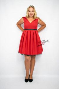 Sukienka Inna Ty czerwona kod promocyjny na ExtraLargeShop.pl