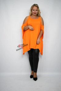 Bluzka XXL Tunika Plus Size Inna Ty pomarańczowa